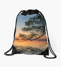 Holding the sun Drawstring Bag
