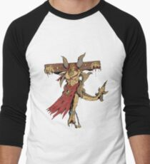 Shackled Demon Men's Baseball ¾ T-Shirt