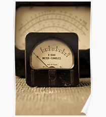 Vintage Electrical Meters Poster