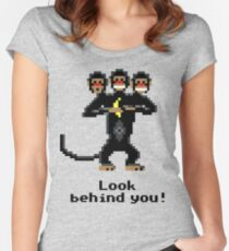 Three-Headed Monkey Women's Fitted Scoop T-Shirt