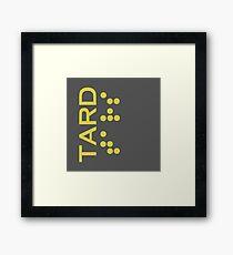 Interstellar - TARD robot logo Framed Print