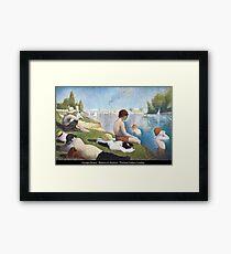 Georges Seurat - Bathers at Asnières Framed Print