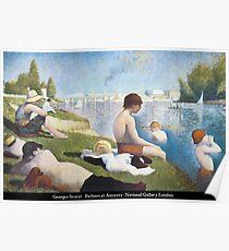 Georges Seurat - Bathers at Asnières Poster