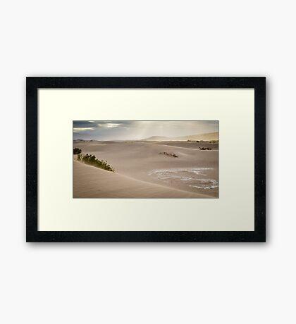 Mesquite Flat Sunrise - Death Valley Framed Print