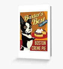 Boston Terrier Dog Baker retro poster design- original art  Greeting Card