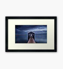 'The Boatshed' Framed Print