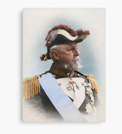 Oscar II, king of Sweden and Norway — ca 1880 Canvas Print