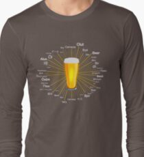 """Beer"" in 45 different languages Long Sleeve T-Shirt"