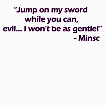 Minsc - Jump on my sword! by amonamarthkid