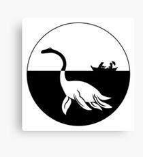 Nessy (Loch Ness Monster) Logo Canvas Print