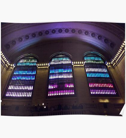 Holiday Light Show, Grand Central Terminal, New York City Poster
