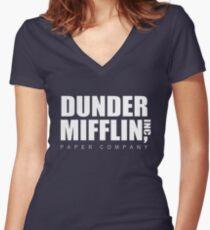 Dunder Mifflin Women's Fitted V-Neck T-Shirt