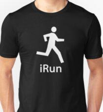 iRUN white Unisex T-Shirt