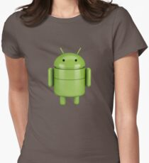 Green android robot Womens Fitted T-Shirt