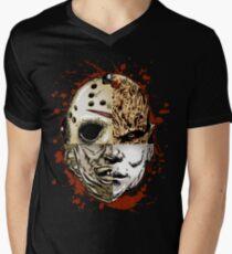 HORROR MASHUP Men's V-Neck T-Shirt
