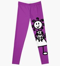 The girl with the curly hair - dark purple Leggings