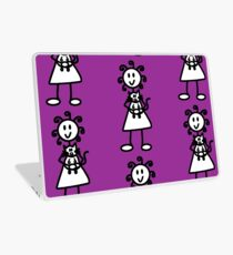 The girl with the curly hair - dark purple Laptop Skin