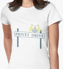 Number 4 Privet Drive Women's Fitted T-Shirt