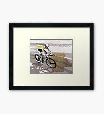 retro cycling poster Contador El Pistolero Framed Print