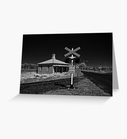Stop on Red Signal Greeting Card