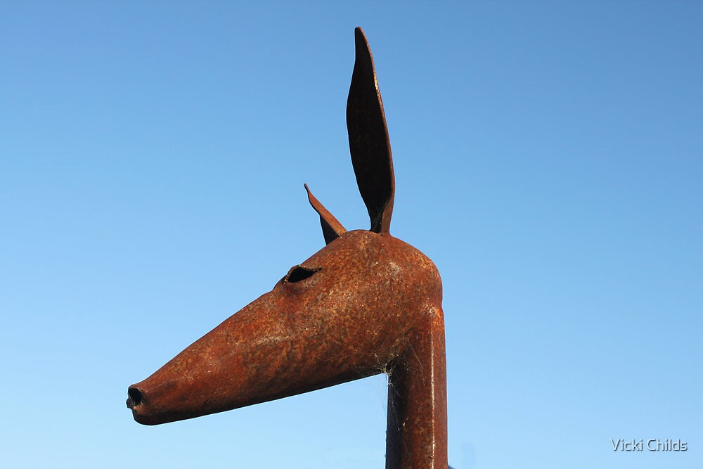 Rusty Kangaroo Head by Vicki Childs