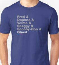 Fred & Daphne & Velam & Shaggy & Scooby Doo & Ghost Unisex T-Shirt