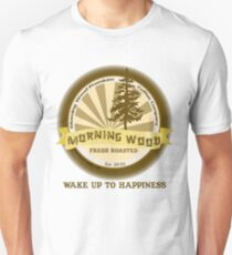 "MysticVessel T-Shirt ""Morning Wood Coffee"" Series ""Wake Up to Happiness"" T-Shirt"