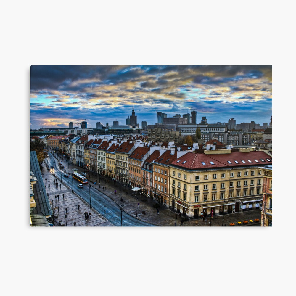 Warsaw City Skyline Leinwanddruck