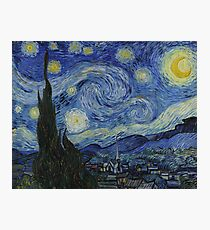 Vincent Van Gogh - Starry Night,  Impressionism .Starry Night, 1889 Photographic Print
