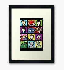 Doctor Squares Framed Print