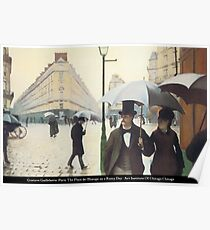 Gustave Caillebotte - Place de l'Europe on a Rainy Day Poster