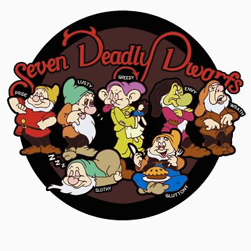 Seven Deadly Dwarfs by jenpauker