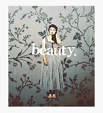 her name means beauty. Photographic Print
