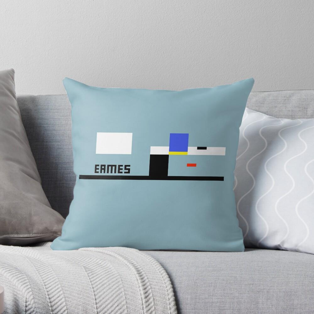 Eames Haus-abstraktes Architektur-T-Shirt Dekokissen