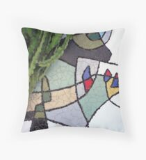 Mosaic Cesar Manrique Throw Pillow
