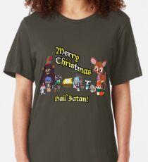 Woodland Critter Christmas Slim Fit T-Shirt