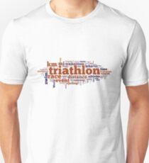 Triathlon Word Map T-Shirt