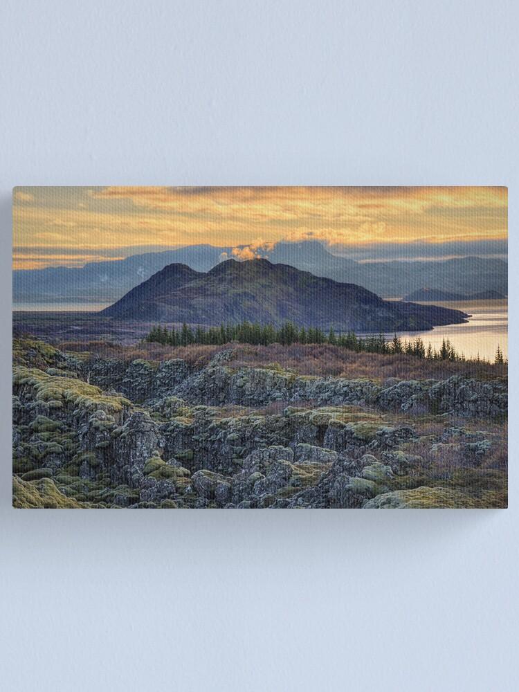 Alternate view of Sunset in Thingvellir Canvas Print