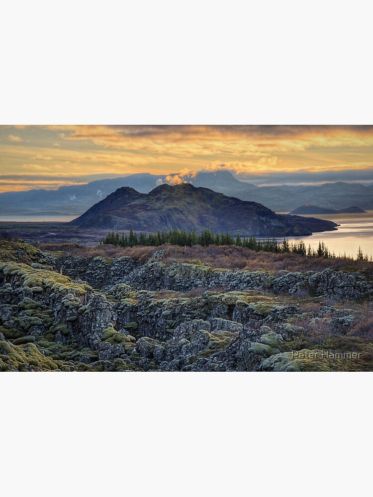 Sunset in Thingvellir by PeterH