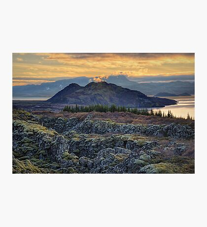 Sunset in Thingvellir Photographic Print