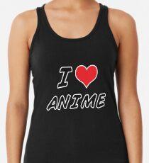 Ich liebe Anime Racerback Tank Top