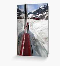 Icefields Bus Greeting Card