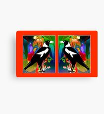 Lienzo Stained Glass Magpies