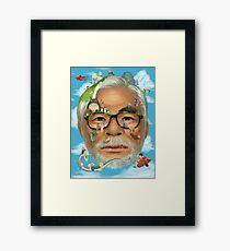 The world of miyazaki Framed Print