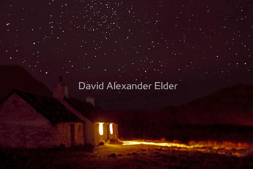 Stargazing at Black Rock Cottage, Glencoe, Scotland by David Alexander Elder