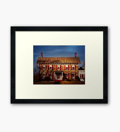 The Mourning Home Framed Print