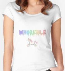 Whoreible. Women's Fitted Scoop T-Shirt