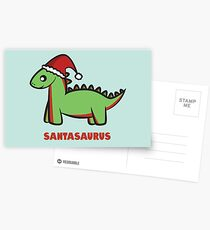 Santasaurus  Postcards