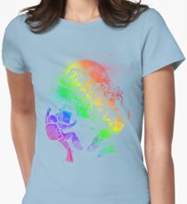 Space Disco Womens Fitted T-Shirt