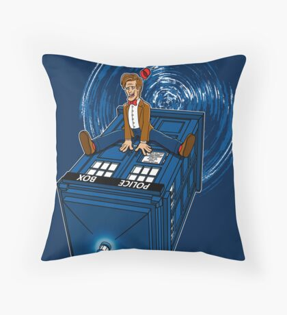 How I learned to love the Tardis. Throw Pillow